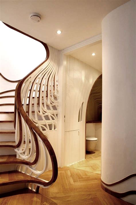 Round Staircase Design by Unusual Curved Staircase Digsdigs