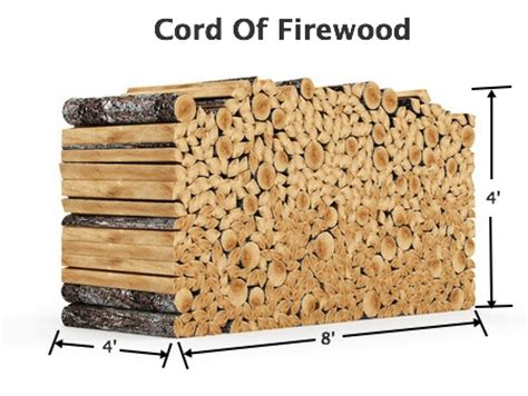 how much wood is in a cord firewood seasoned green hardwood delivery worcester county