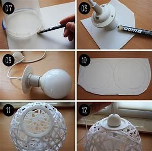 Lampen Selber Basteln : diy bast faden schnur lampe stuff to try lampara cuerda l mparas und manualidades ~ Watch28wear.com Haus und Dekorationen