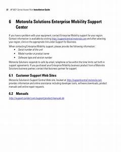 Motorola Solutions Ap6521 Access Point Installation Guide