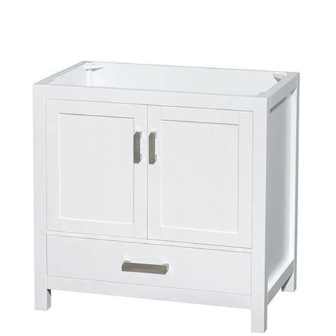 White Bathroom Vanities At Menards by Wyndham Collection Sheffield 36 Quot White Single Vanity At