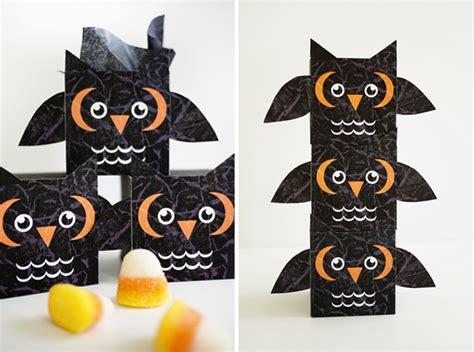 printable spooky owl treat box