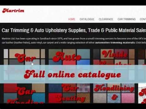 Upholstery Supplies Uk by Car Trimming Auto Upholstery Supplies Car Leather Car