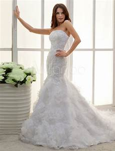 white strapless applique lace mermaid trumpet wedding With mermaid trumpet wedding dresses