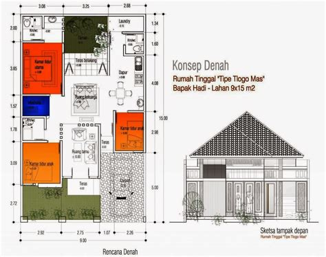 desain rumah minimalis luas tanah  meter desain