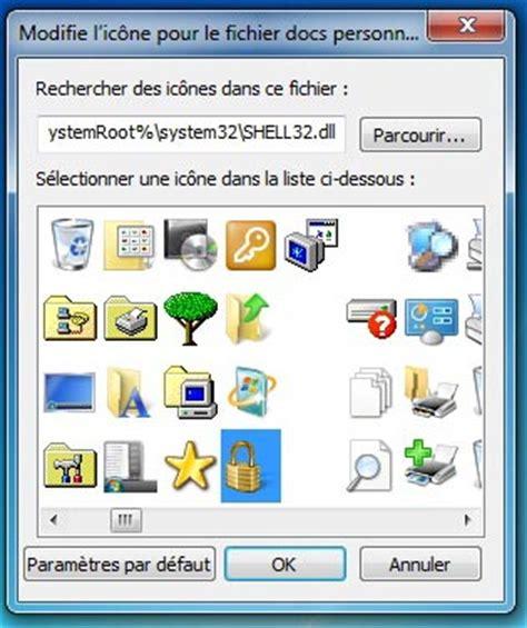 icone bureau windows 7 changer l 39 apparence de l 39 icône d 39 un dossier sous windows 7