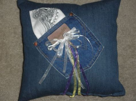 blue jean wedding what s country without wranglers my ringbearer pillow weddingbee w