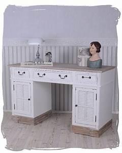Schreibtisch Landhausstil Weiß Retro Schreibtisch Landhausstil