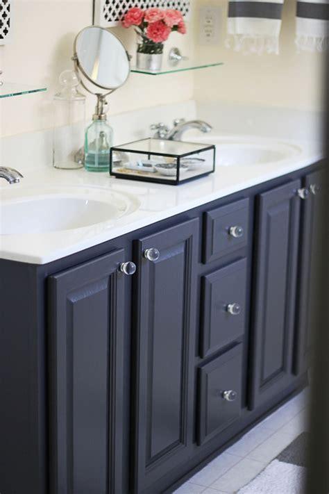 gray  ben moore  painted bathroom vanity