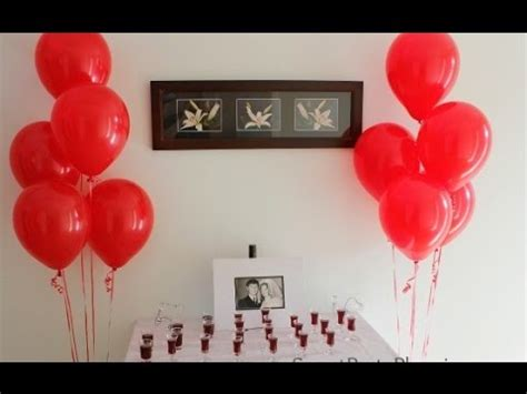 wedding anniversary decoration ideas at home youtube
