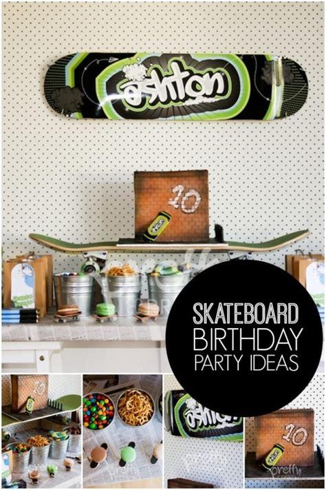 cool skateboard boys birthday party spaceships