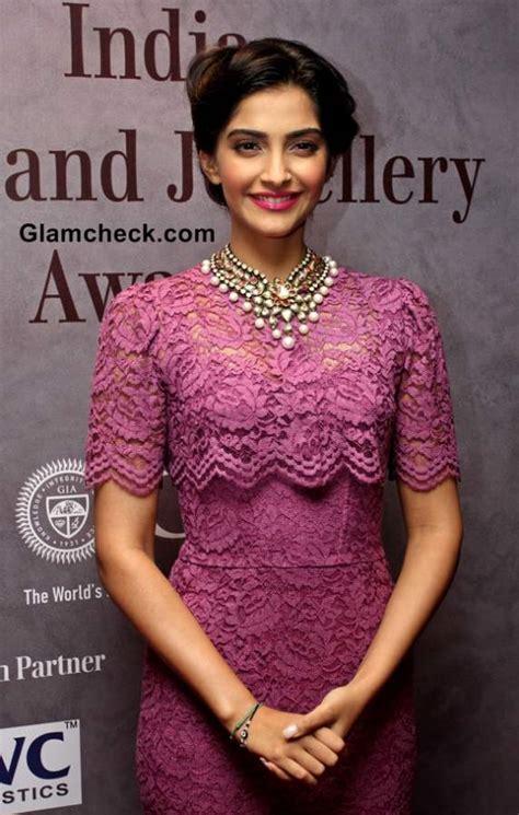 sonam kapoor  dolce gabbana lace dress   india