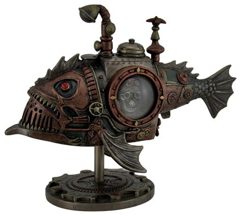 zeckos hand painted steunk submarine sci fi fantasy statue view in your room houzz