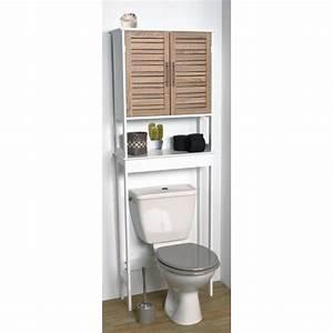 Meuble Haut Toilette : meuble dessus wc 1 tablette achat vente colonne ~ Dallasstarsshop.com Idées de Décoration
