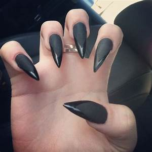 Nails Matte black claws | Makeup & Nails | Pinterest
