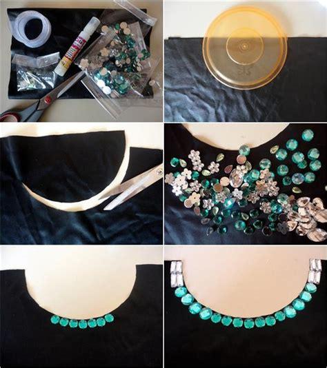 diy collar necklace  straples top  embellished shirt