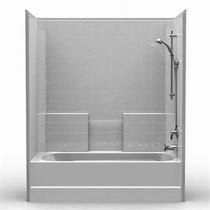 Tub Shower Combo Piece Tile Combination 60