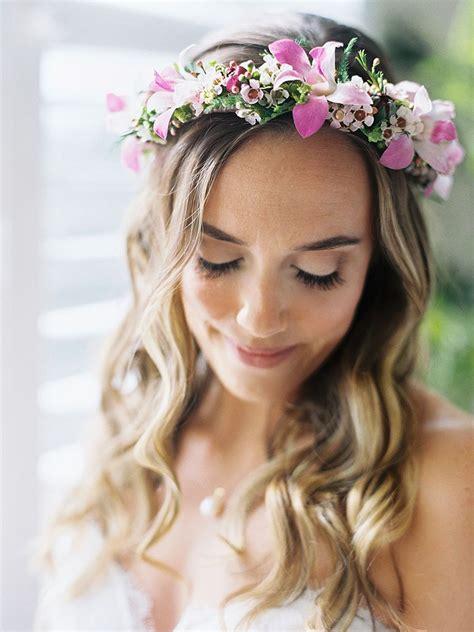 bridal flower crowns perfect   wedding