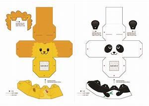 leao panda papercrafts e moldes pinterest paper With paper finger puppets templates