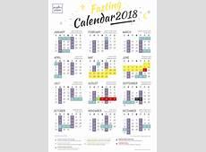 Linerocks Muslim Fasting Calendar 2018
