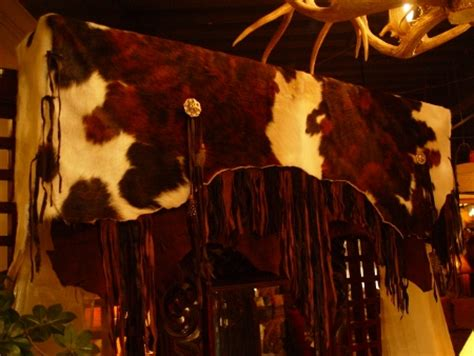 Cowhide Valance - designs by pat hair on valance