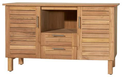 meuble salle de bain en bois de teck 125 soho bord de mer console et meuble sous lavabo