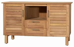meuble salle de bain en bois de teck 125 soho bord de With meuble salle de bain mer