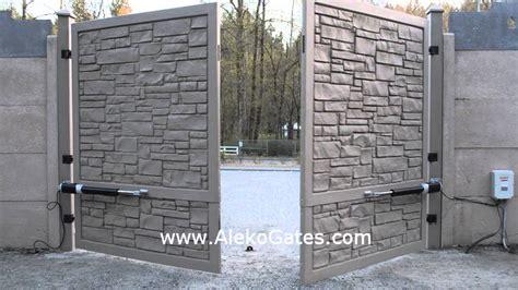 swing gate aleko 174 gg1300 basic kit swing gate opener for dual swing