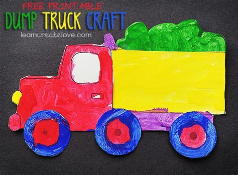 preschool truck crafts transportation crafts dump trucks