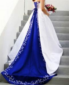 wedding gowns royal blue accents With wedding dresses with royal blue accents
