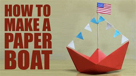 How To Make A Boat Diy by How To Make A Paper Boat Diy Paper Boat