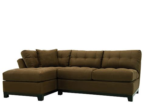 cindy crawford metropolis 2 pc microfiber sectional sofa