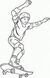 Skateboard Coloring Pages Skateboarding Boy Printable Skateboarder Site Getcoloringpages Coloringpagesabc Coloring2print sketch template