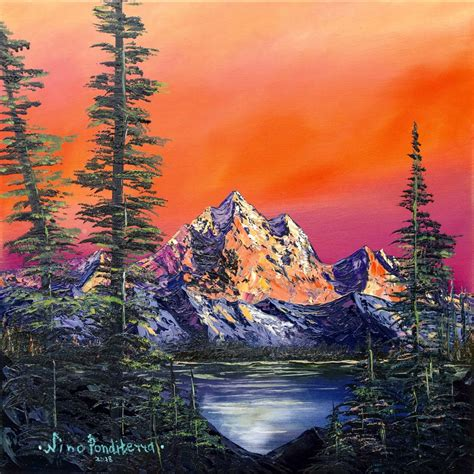 Mountains in Canada - original oil painting   Artfinder