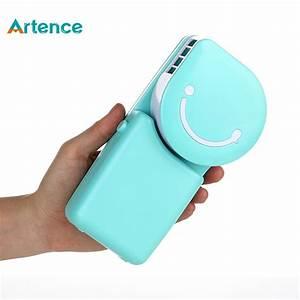 Portable Mini Air Conditioner Fan Smile Face USB