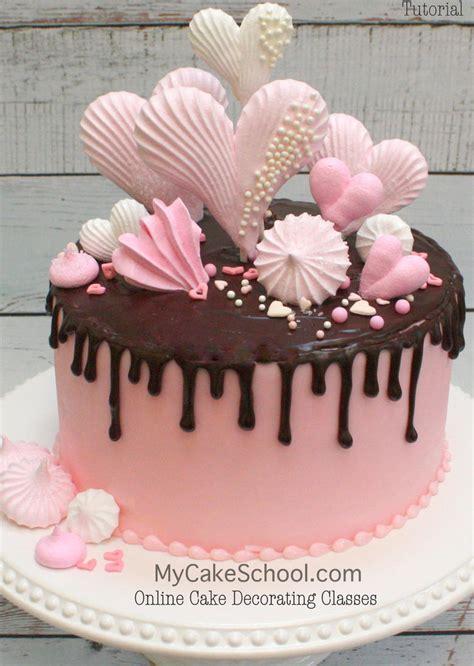meringues   chocolate drip cake video