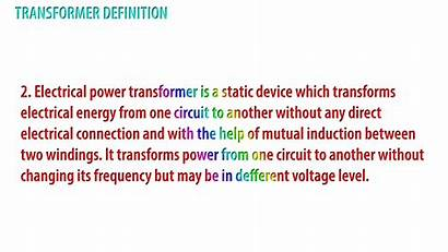 Definition Engineering Electrical Transformer Basic Define Examples