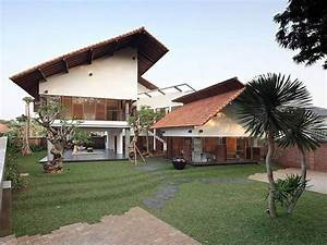 Tropical, Home, Design, For, Minimalist, Wooden, House