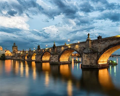 wallpaper prague charles bridge czech republic river
