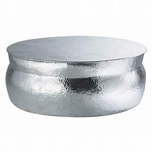 Table Ronde Aluminium : table basse ronde en aluminium d 91 cm nomade maisons du monde ~ Teatrodelosmanantiales.com Idées de Décoration