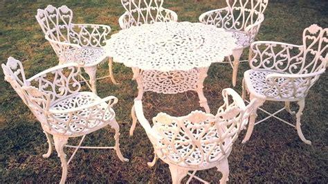 en venta mesa  sillas de jardin metalicas morelia youtube