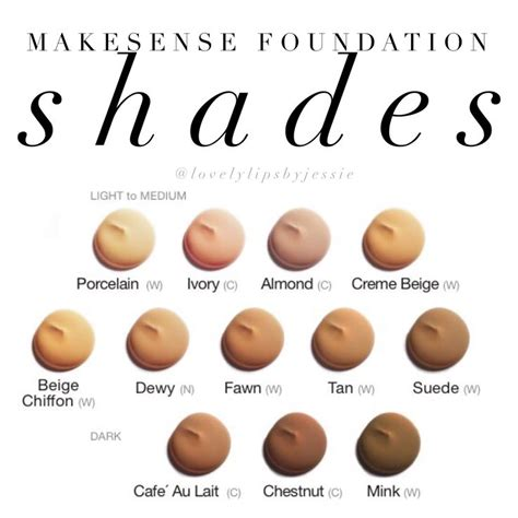 foundation shades makesense foundation makesense