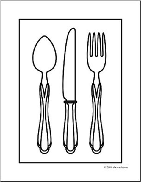 Coloring Utensil by Clip Silverware Coloring Page I Abcteach Abcteach