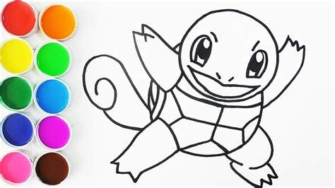 como dibujar  colorear  squirtle de pokemon dibujos  ninos  bebes learn colors funkeep