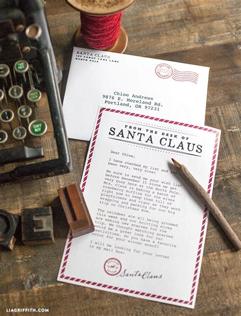 printable letter  santa lia griffith christmas