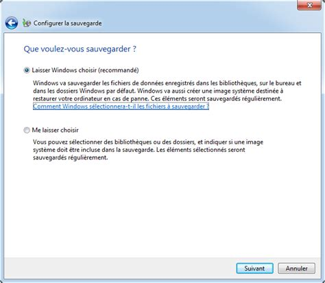 sauvegarde bureau windows 7 sauvegarde automatique sous windows 7 avec deux méthodes