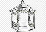 Pavilion Clip Cliparts Clipart Gazebo Library Provided sketch template