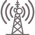 Telecom Tower Icon Broadcast Core Gray