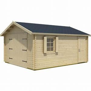 Garage En Bois Leroy Merlin : garage en bois kunda 19 m leroy merlin ~ Melissatoandfro.com Idées de Décoration
