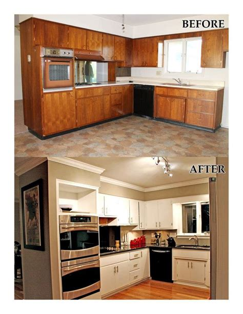 flooring before or after cabinets our kitchen remodel before and after refinished